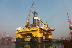China launches ultra-deepwater semi-sub rig Bluewhale I