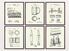BEER PATENT ART WALL ART   by WunderKammerEditions