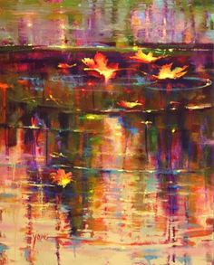 The water is so beautiful! Art by Donna Young