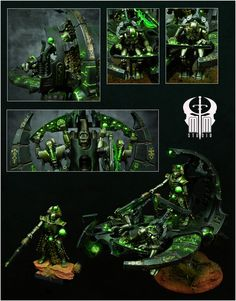 Exhibition of miniatures painted by other artists from around the world. Warhammer 40k Necrons, Warhammer Paint, Warhammer Models, Warhammer 40k Miniatures, Paint Schemes, Colour Schemes, Necron Army, Warhammer Tabletop, Dark Eldar