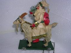 House of Hatten Christmas Messengers Santa on Goat 2001 | eBay