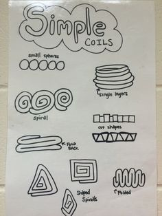 Simple Coils Poster from Art Invention Lab