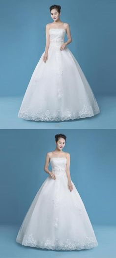 00794b304cf1 Hot Sale Luscious Simple Wedding Dresses, Long Wedding Dresses, Wedding  Dresses A-Line, Wedding Dresses 2019