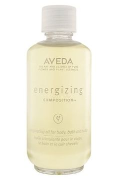 Aveda Energizing Composition 1.7 oz by Aveda. $23.00. Exhilarating, energizing aroma uplifts the senses.. Leaves skin feeling soft, supple and conditioned.. A lightweight, aromatic oil for bath, body and scalp. Contains organic sunflower oil, organic green coffee seed oil, vitamin E and an uplifting blend of essences including lavender, ylang ylang and sweet orange.