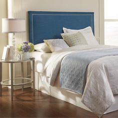 Clermont King Size Upholstered Blue Headboard