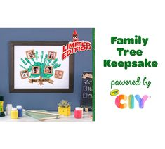 Make an easy craft for kids and families that creates family tree wall decor. This Family Tree Idea Craft Kit is a great keepsake gift and has the crafts supplies to design a family tree. Diy Family Tree Project, Family Tree Wall Decor, Family Tree For Kids, Wall Decor Crafts, Keepsake Crafts, Diy Art Projects, Family Crafts, Tree Crafts, Easy Crafts For Kids
