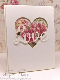 F4A215 Love Tone on Tone by Arizona Maine - Cards and Paper Crafts at Splitcoaststampers #weddingcards