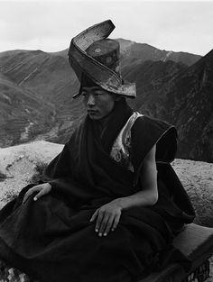 """Zhuang Xueben, """"Tibetan Buddhist Monk, Yu Shu County, Qing Hai Province,"""" 1937"""