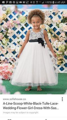 Black and White Tulle Dress Girls