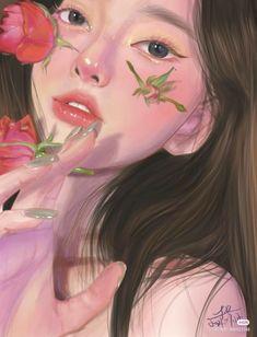 Girly Drawings, Cartoon Drawings, Anime Flower, Anime Art Fantasy, Girly Pictures, Drawing Artist, Digital Art Girl, Anime Neko, Anime Angel