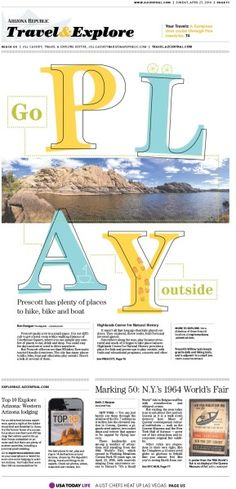 Go Play outside #GraphicDesign #Newspaper #Layout