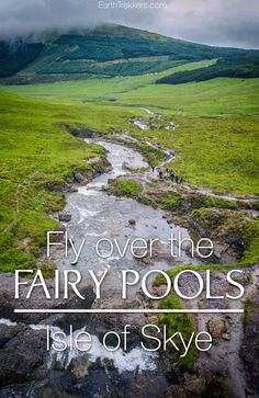 Fairy Pools, Isle of Skye, Scotland. Drone photos and video