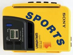 Not just any Walkman - its the SPORTS edition. retro-sony-products