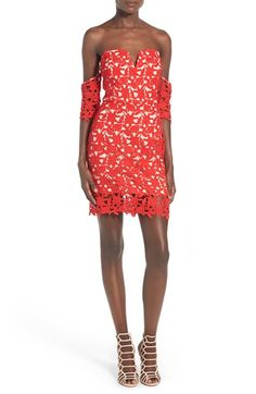 db17c13345fcf1 Free shipping and returns on J.O.A. Lace Sweetheart Off the Shoulder Dress  at Nordstrom.com