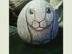 Bunny rock I painted