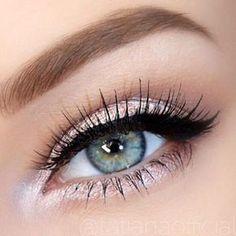 Rose Glitter Eye Makeup