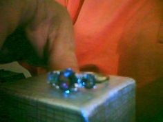 LOOK!!! A STAMPED 925 STERLING SILVER FILLED AMETHYST AND RAINBOW TOPAZ RING SIZE 6