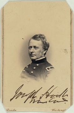 Calling card of Union General Joseph Hooker