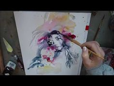 Schnelles Aquarell Porträt - easy painting in watercolor - YouTube Watercolor Tattoo, Easy, Youtube, Watercolor Painting, Painting Portraits, Youtubers, Temp Tattoo, Youtube Movies