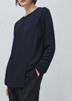 Blusa cruzada - Camisas de Mulher | MANGO