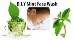 D.I.Y Mint Face Wash for Acne Prone/Oily Skin, via YouTube.
