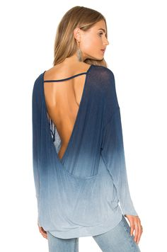 Young, Fabulous & Broke Renee Sweater in Blue Ombre