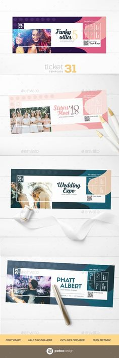 Inverto Party Event Ticket Event ticket, Psd templates and Template - party tickets templates