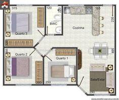 Resultado de imagen para casa 3 quartos #modelosdecasasterrea