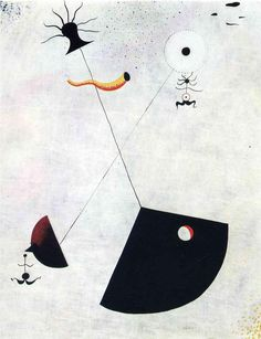 Maternidad, óleo sobre lienzo de Joan Miro (1893-1983, Spain)