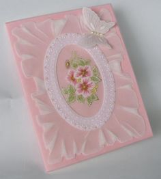 Card Pergamano (Parchment Craft) techniques ? Bouquet  in frame