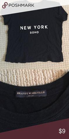 Brandy Melville tee one size Black New York Brandy tee Brandy Melville Tops Tees - Short Sleeve