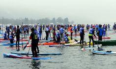 Glagla Race : le 20 janvier 2018 Course de paddle sur le lac en hiver avec près de 500 concurrents au départ de la plage de Talloires