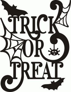 A2 Trick Or Treat Halloween Halloween Halloween Silhouettes