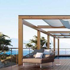 Une terrasse comme un pont de bateau