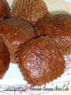 Chocolate Banana Steam Cake Apam Pisang Cokelat La Tuu