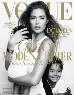 Cream of the crop: Vogue Netherlands dedicated the March issue of the fashion bible to Doutzen in honour of her 30th birthday, which she celebrated on January 23