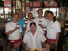 Photo by Cynthia Ross, taken 8-12-2009 Our very own Patrick Ford and the lovely ladies at Big Ed's !