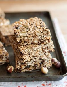 Recipe: Hazelnut-Cocoa Granola Bars with Dried Figs Snack Recipes from The Kitchn | The Kitchn