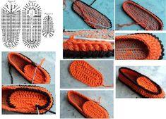 örgü ayakkabı yapımı