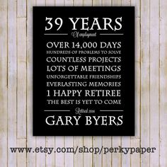 retirement gift years at company gift for boss personalized
