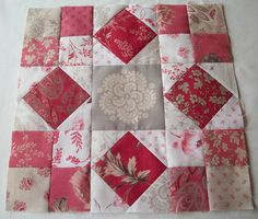 red and grey quilt