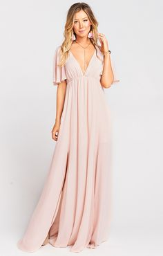 Bridesmaid dresses, simply uncover the lovely and happy pin snap reference 5527981453 today. Blush Colored Bridesmaid Dresses, Mumu Bridesmaid Dresses, Blush Pink Dresses, Bridesmaid Duties, Bride Dresses, Maxi Dresses, Bridesmaids, Casual Dresses, Wedding Guest Gowns