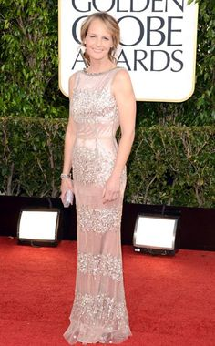 HELEN HUNT at The Golden Globes 2013  In Dolce & Gabbana