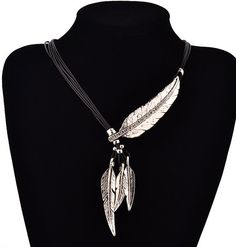 Feather Necklace Native American Necklace Tribal by KingsfieldInn