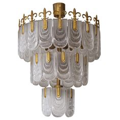 Large Italian Murano Chandelier | From a unique collection of antique and modern chandeliers and pendants  at https://www.1stdibs.com/furniture/lighting/chandeliers-pendant-lights/
