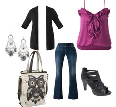 I'd so wear this...MINUS the owl, but I know someone that would <3 it lol.