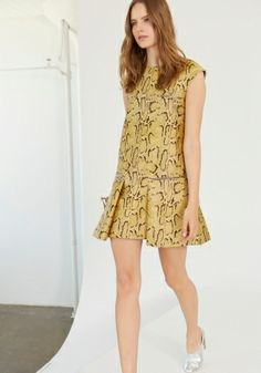 Camomile Snake Gisella Dress. Spring 2014 Look 7