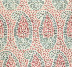 "Lisa Fine Textiles ""Lahore"" in Calico Fabric Wallpaper, Pattern Wallpaper, Arabesque, Tissu Ikat, Textile Patterns, Print Patterns, Paisley Fabric, Paisley Pattern, Creative Textiles"