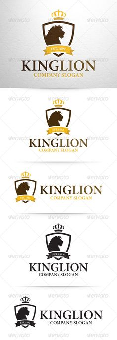 King Lion Logo Template — Vector EPS #lions #design • Available here → https://graphicriver.net/item/king-lion-logo-template/8358041?ref=pxcr