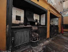 The kitchen was discovered when the room, which had been used as a dumping ground, was cleared